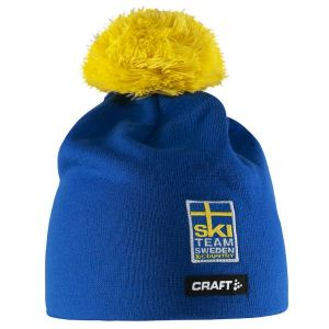 Mössa Blå Craft Ski Team Sweden