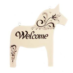 Hästskylt WELCOME