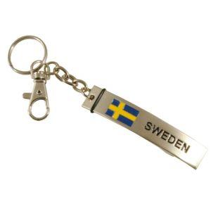 Nyckelring/Flasköppnare SWEDEN