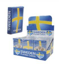 Spelkort med Svenska Flaggan
