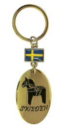 Nyckelring  Dalahäst Svenska Flagga