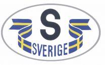 S-Dekal För Bilen Vit/Flaggor