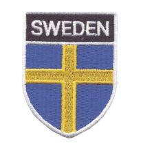 Broderad Flaggsköld SWEDEN