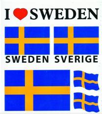 Sverige Stickers / Klistermärken