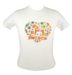 T-shirt Vit Sweden Barn